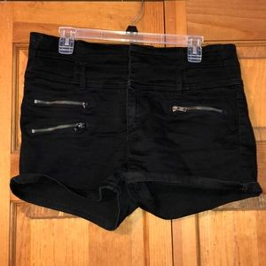 Bebe Black High Waisted Shorts